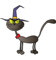 Black Cat Witch vector image