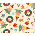 christmas set seamless pattern vector image vector image