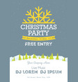 christmas night party poster or flyer merry vector image