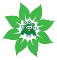 eco bird green vector image vector image