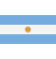 Rectangular Argentina flag vector image