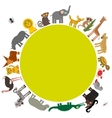 Round frame for text Animal Africa parrot Hyena vector image