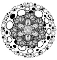 Flower Ornament Black and White2 vector image