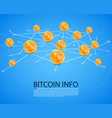 bitcoin map network on the white background vector image