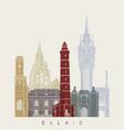 Calais skyline poster vector image