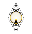 candle frame vector image