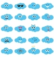 Clouds with smiley faces vector image
