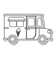 food truck delivery design vector image