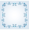 Frame with floral elements vector image