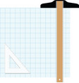 Graph paper drafting tools draw vector image