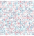 Seamless Blue Red Colorful Random Geometric vector image