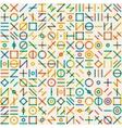 Seamless Multicolor Geometric Line Random vector image
