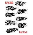 Set of motor racing tattoos vector image
