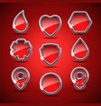 set of the medical icons vector image