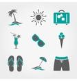 Summer vacation icons set vector image