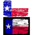 texas flag grunge lone star vector image