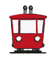 train wagon frontview icon image vector image