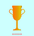trophy cup set it is color icon vector image