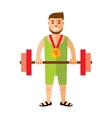 Weightlifting Flat style colorful Cartoon vector image