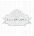 Back to School curved Label vector image