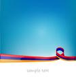 armenia ribbon flag vector image