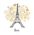 Eifel Tower Paris Bursting With St vector image