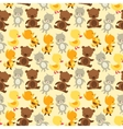 Seamless pattern with baby cat bear fox and duck vector image