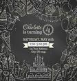 Chalk Birthday invitation blackboard template vector image