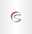 letter c logo c colorful logo logotype vector image
