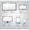 TV screen Lcd monitor notebook tablet computer vector image