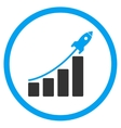 Startup Sales Circled Icon vector image
