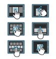 Basic human gestures using modern digital devices vector image vector image