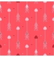 Arrows with hearts seamless pattern Good for vector image
