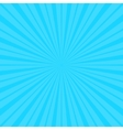 Calm blue fanning rays background vector image