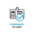 corporate id card concept outline icon linear vector image