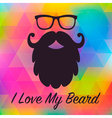 Love Beards Card vector image