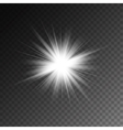 magic white rays glow light effect isolated vector image