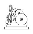 music trophy award vector image