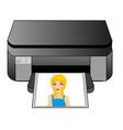 office equipment colour printer vector image