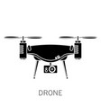 quadcopter simple icon on white background vector image