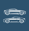 sports car silhouette race vehicle automobile vector image