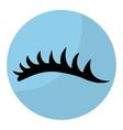 woman eyelash icon vector image