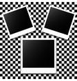 Photo frames set vector image vector image