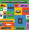 Vintage and modern vehicle silhouettes collection vector