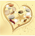 Holiday sand heart vector image vector image