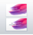 creative business card with watercolor effect vector image