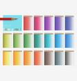 set of color pencils vector image