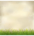 Green Grass on Plaster Wall Abstract Background vector image