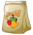 A pack of bell pepper seeds vector image vector image