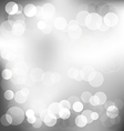 Silver elegant abstract background with bokeh vector image
